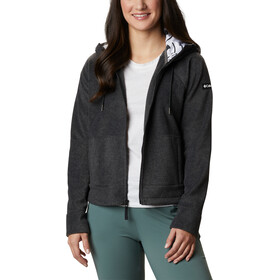 Columbia Exploration Capuchon Fleece Jas met Doorlopende Rits Dames, charcoal heather